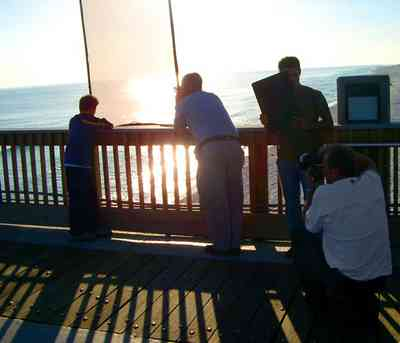 Pensacola-Beach:-Gulf-Fishing-Pier_13.jpg:  wrangler commercial, blue jeans, gulf of mexico, fishing pier, deck, pier, photographer
