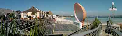 Pensacola-Beach:-Quietwater-Beach_05.jpg:  bandshell, boardwalk, concert stage, amphitheater, gulf coast, gulf of mexico, sand, sound, saw palmetto,