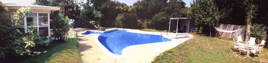 Pensacola:-Cordova-Park-Subdivision_02.jpg:  swimming pool, backyard, subdivision, ranch style house