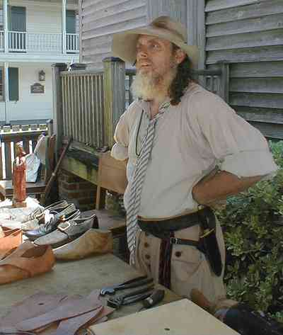 Pensacola:-Historic-Pensacola-Village:-Julee-Cottage_10.jpg:  historical reenactment, leather shoes, cobbler, shoemaker, historic village