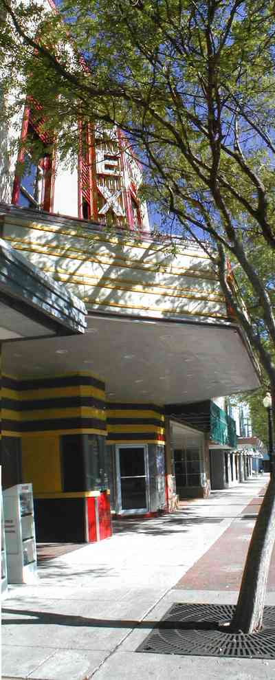 Pensacola:-Palafox-Historic-District:-Rex-Theatre_04.jpg:  movie marque, movie theatre, marque, facade, art deco, 1930's architectural style,