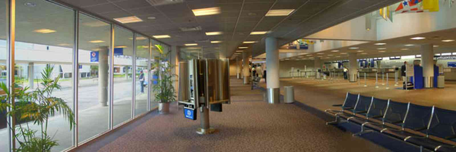 Pensacola:-Regional-Airport_03.jpg:  terminal building, airport, jet plane, ticketing counter