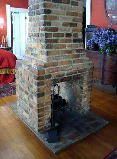 Pensacola:-Seville-Historic-District:-433-East-Zaragoza-Street_45a.jpg:  victorian house, fireplace, bedroom, wooden floors