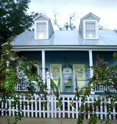 Pensacola:-Seville-Historic-District:-Estate-Jewelry_02.jpg:  creole cottage, victorian cottage, crepe myrtle, pecan tree