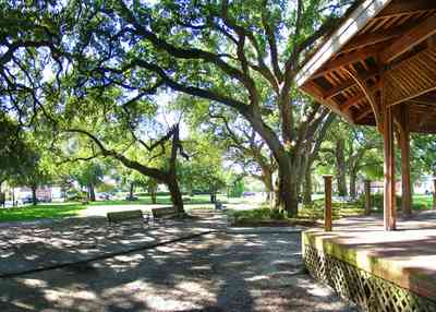 Pensacola:-Seville-Historic-District:-Seville-Square_11.jpg:  gazebo, park, public square, town square