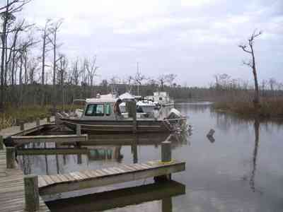Pensacola:-Swamp-House_10.jpg:  bridge, swamp, house, river, waterways, escambia river, bait