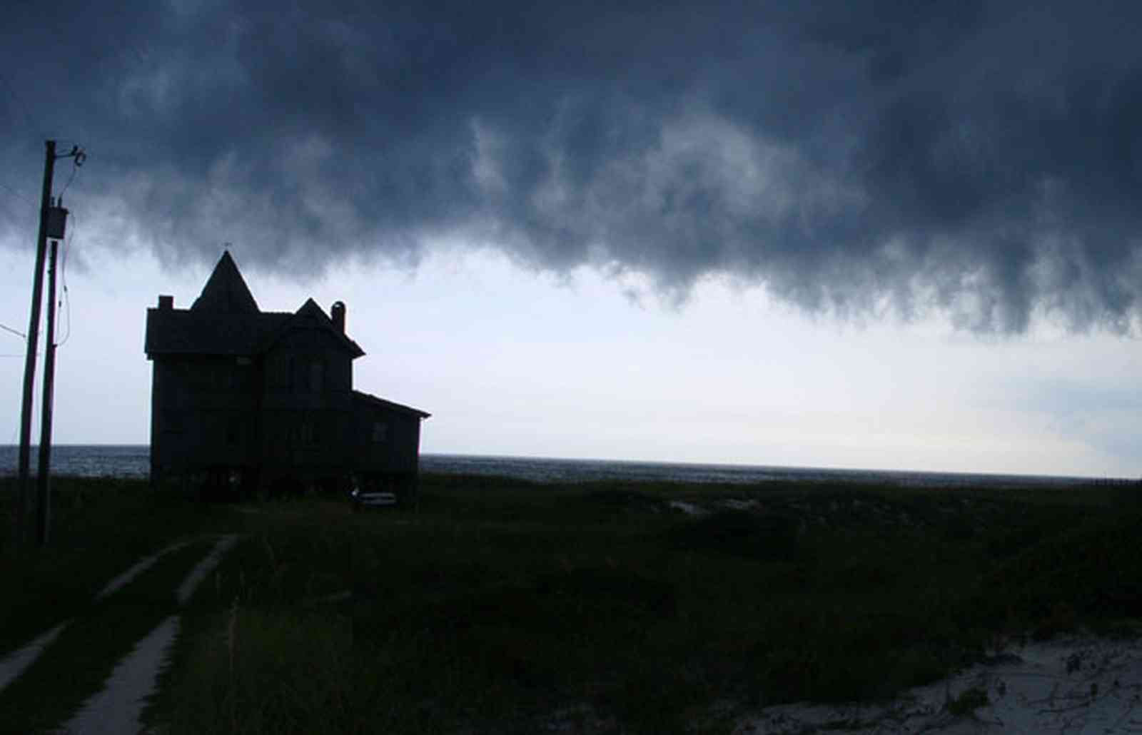 Perdido-Key:-Gothic-House_08.jpg:  victorian house, gothic house, beach house, cumulus cloud, dune, beach, gulf of mexico