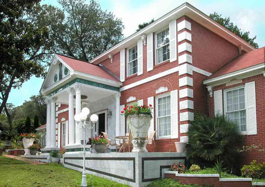 Scenic-Highway:-3780-Scenic-Ridge-Drive_01.jpg:  colonial mansion, greek pillars, marble facade, red brick house, , ,