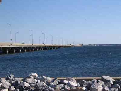 Three-Mile-Bridge_01.jpg:  bridge, riprap, pensacola bay ,