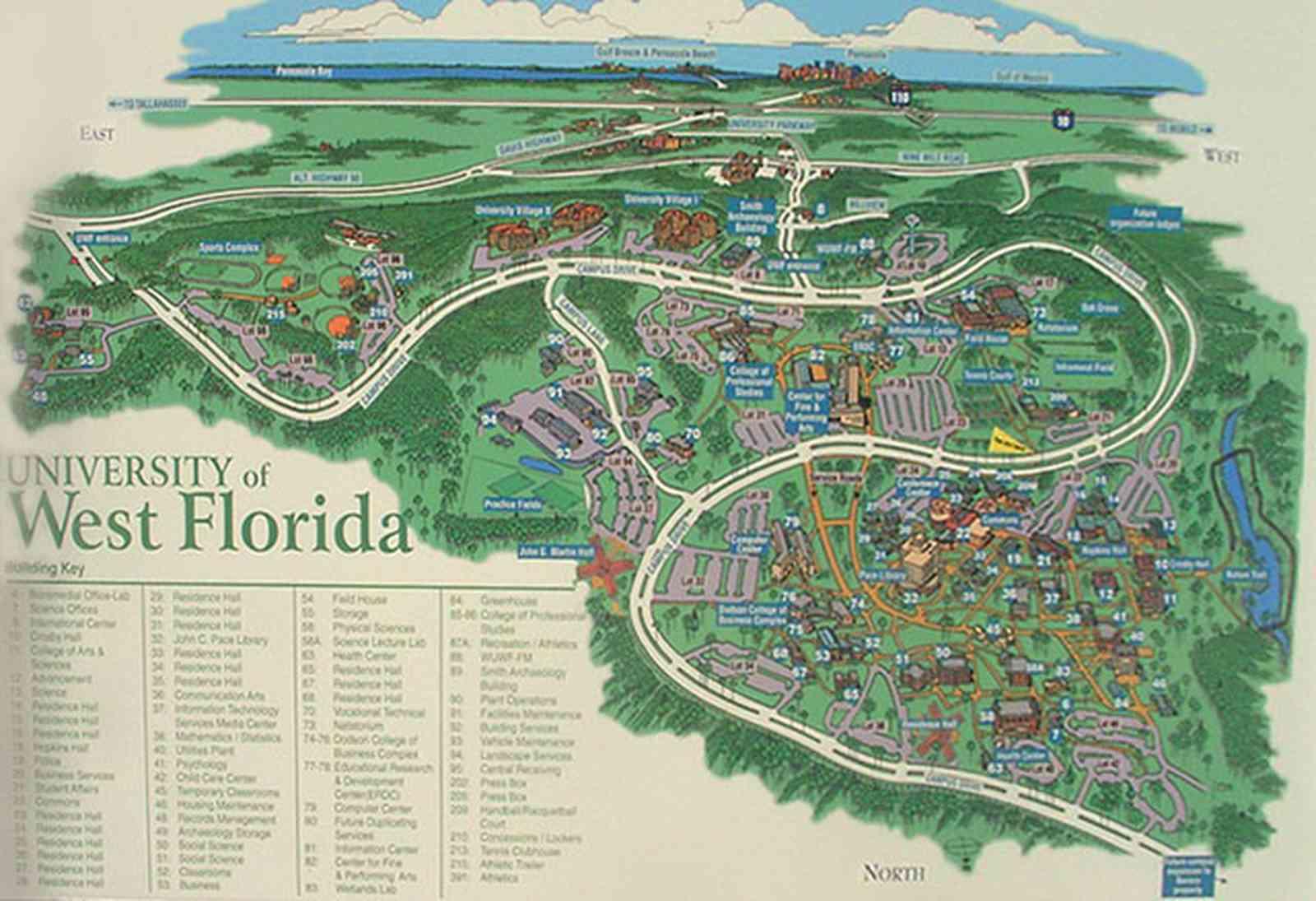 Map Western Florida.Slideshow University Of West Florida Campus
