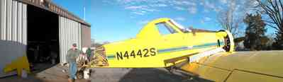 Walnut-Hill:-Mikes-Ag-Air_01.jpg:  crop duster, agricultural applications, chemical dusting, farm, farmland, airplane, single engine airplane