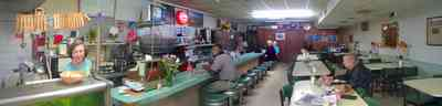 Warrington:-Bills-Fine-Foods_2.jpg:  restaurant, homestyle cooking, counter, stools, informal dining